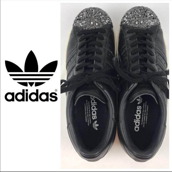Le adidas superstar degli anni '80 w metal la tf nero taglia 9 poshmark